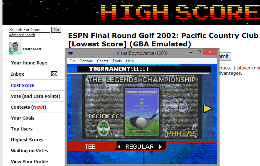 FosterAMF: ESPN Final Round Golf 2002: Pacific Country Club [Lowest Score] (GBA Emulated) 55 points on 2015-03-15 15:40:48