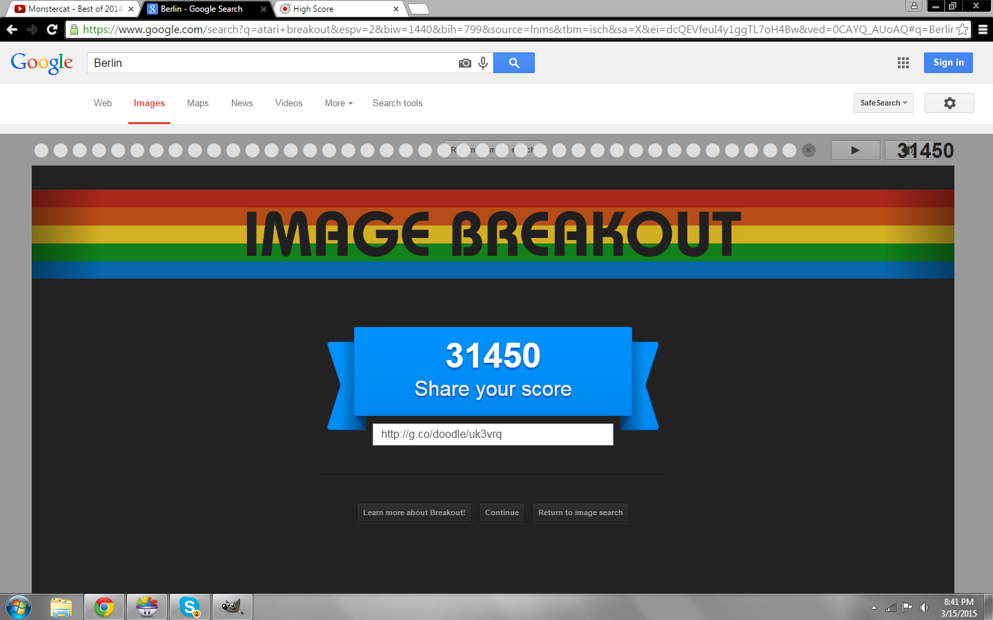 AmazingAgent: Google Image Breakout (Web) 31,450 points on 2015-03-15 19:41:52