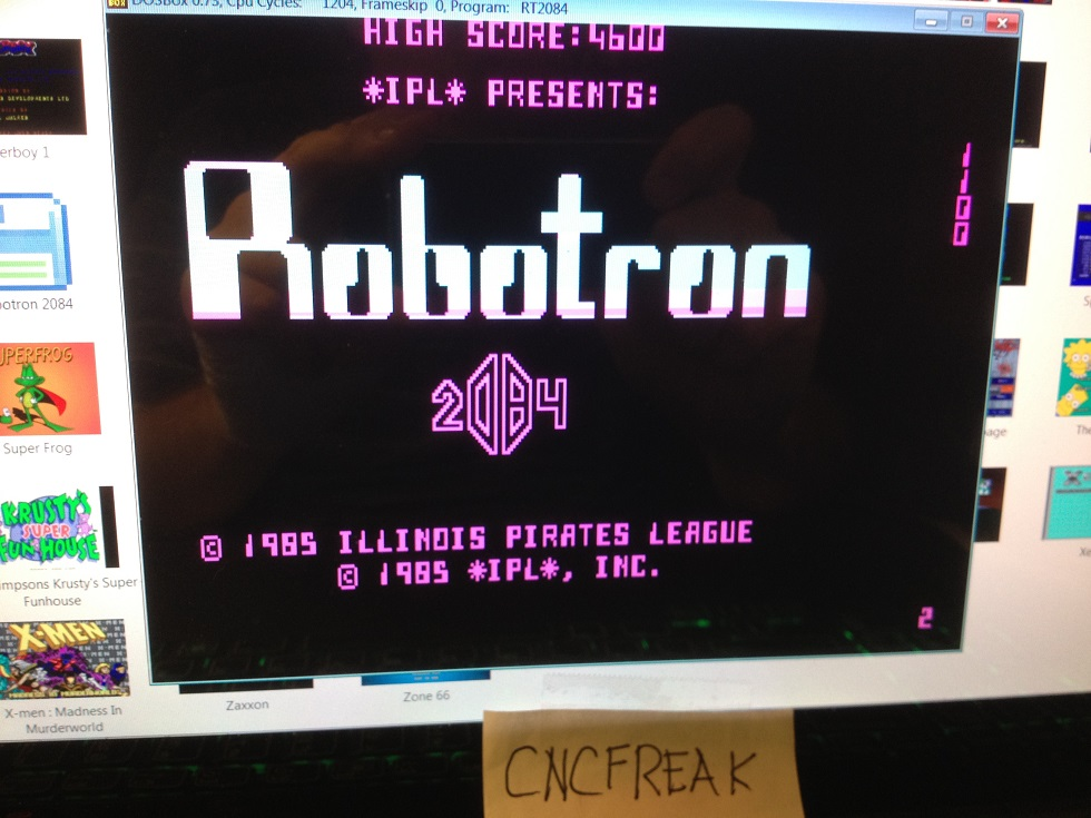Robotron 2084 4,600 points