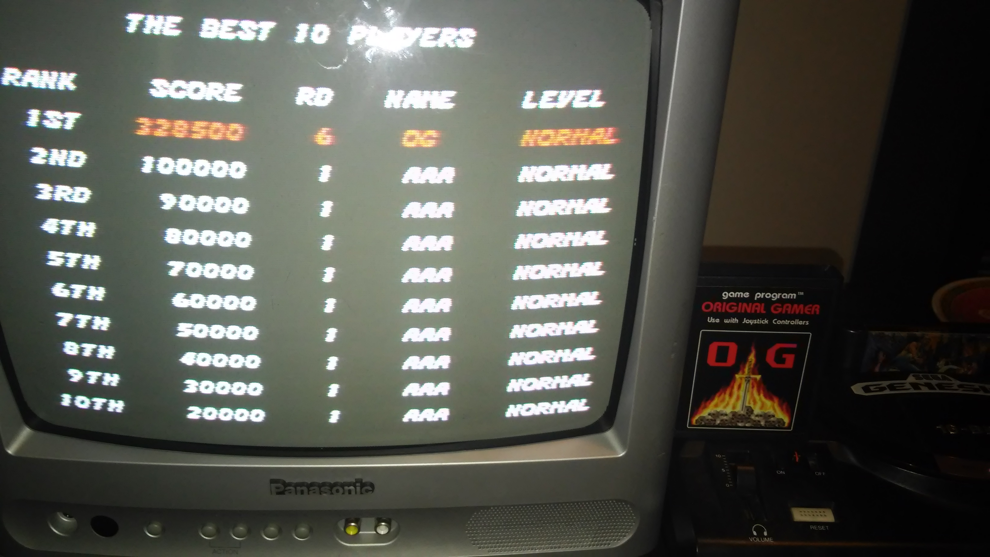 Streets of Rage 328,500 points
