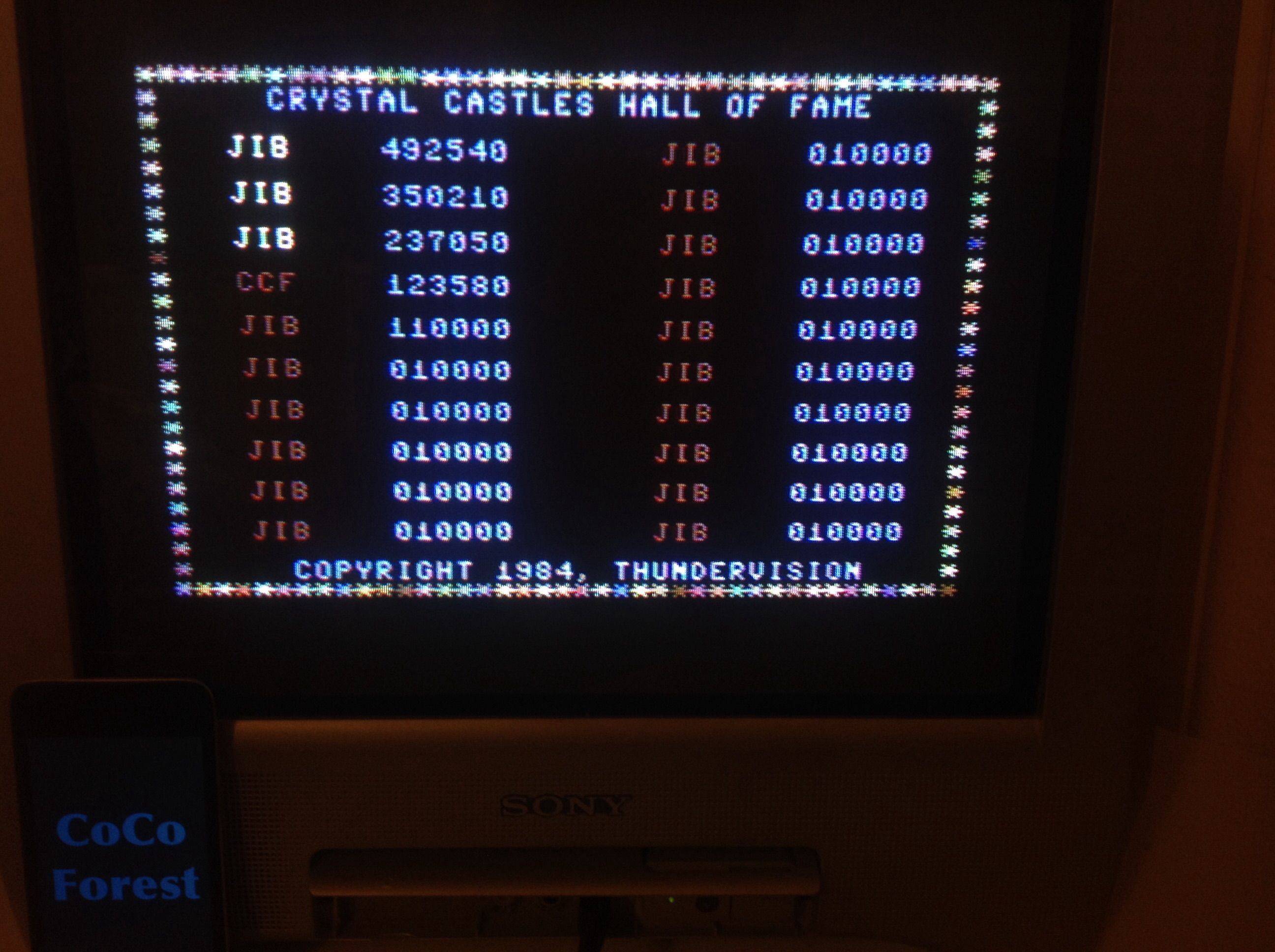 CoCoForest: Crystal Castles [Thundervision] (Commodore 64) 123,580 points on 2015-03-16 13:52:54