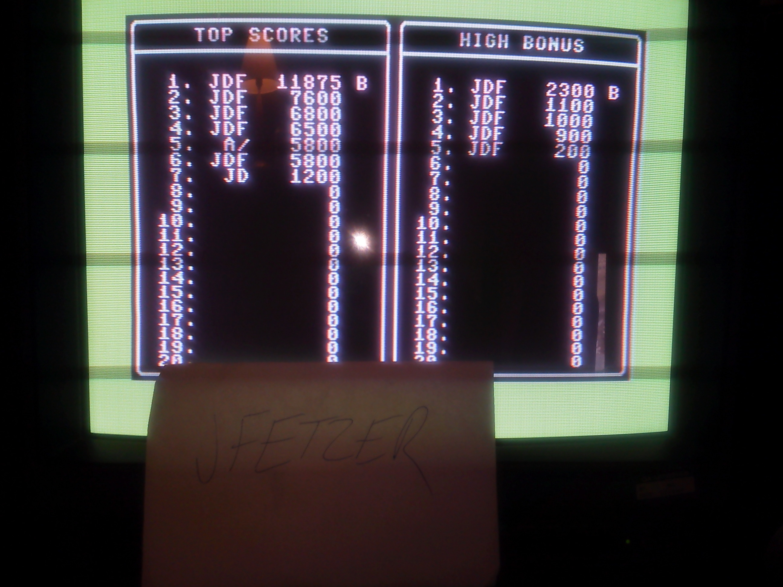 jfetzer: Jumpman (Commodore 64) 11,875 points on 2015-03-16 15:42:40