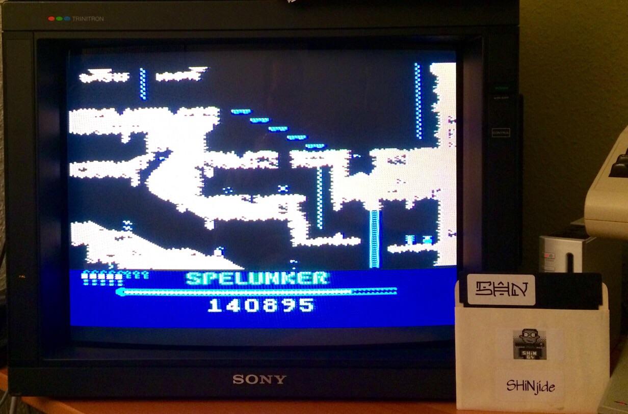 SHiNjide: Spelunker (Atari 400/800/XL/XE) 140,895 points on 2015-03-16 17:11:39