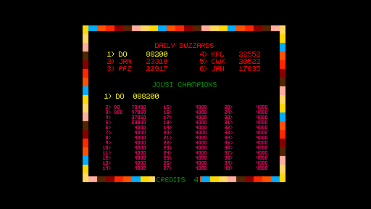 MrDo: Joust (Arcade Emulated / M.A.M.E.) 88,200 points on 2015-03-17 21:52:08