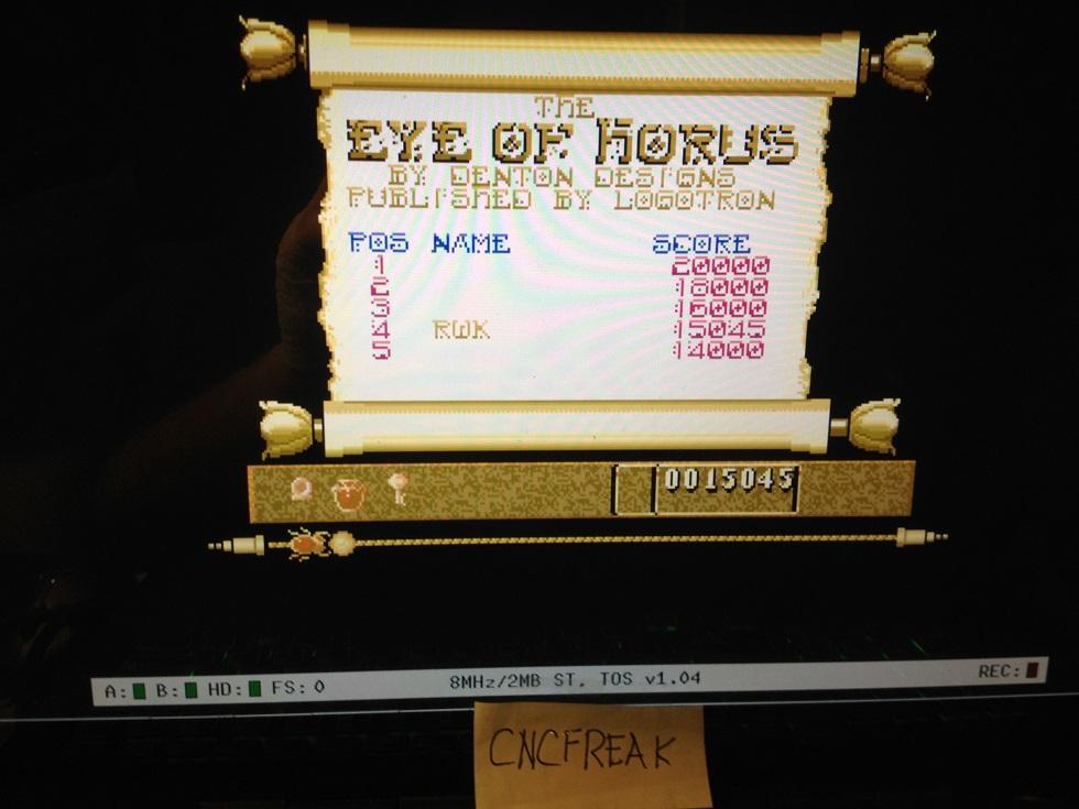 Eye of Horus 15,045 points