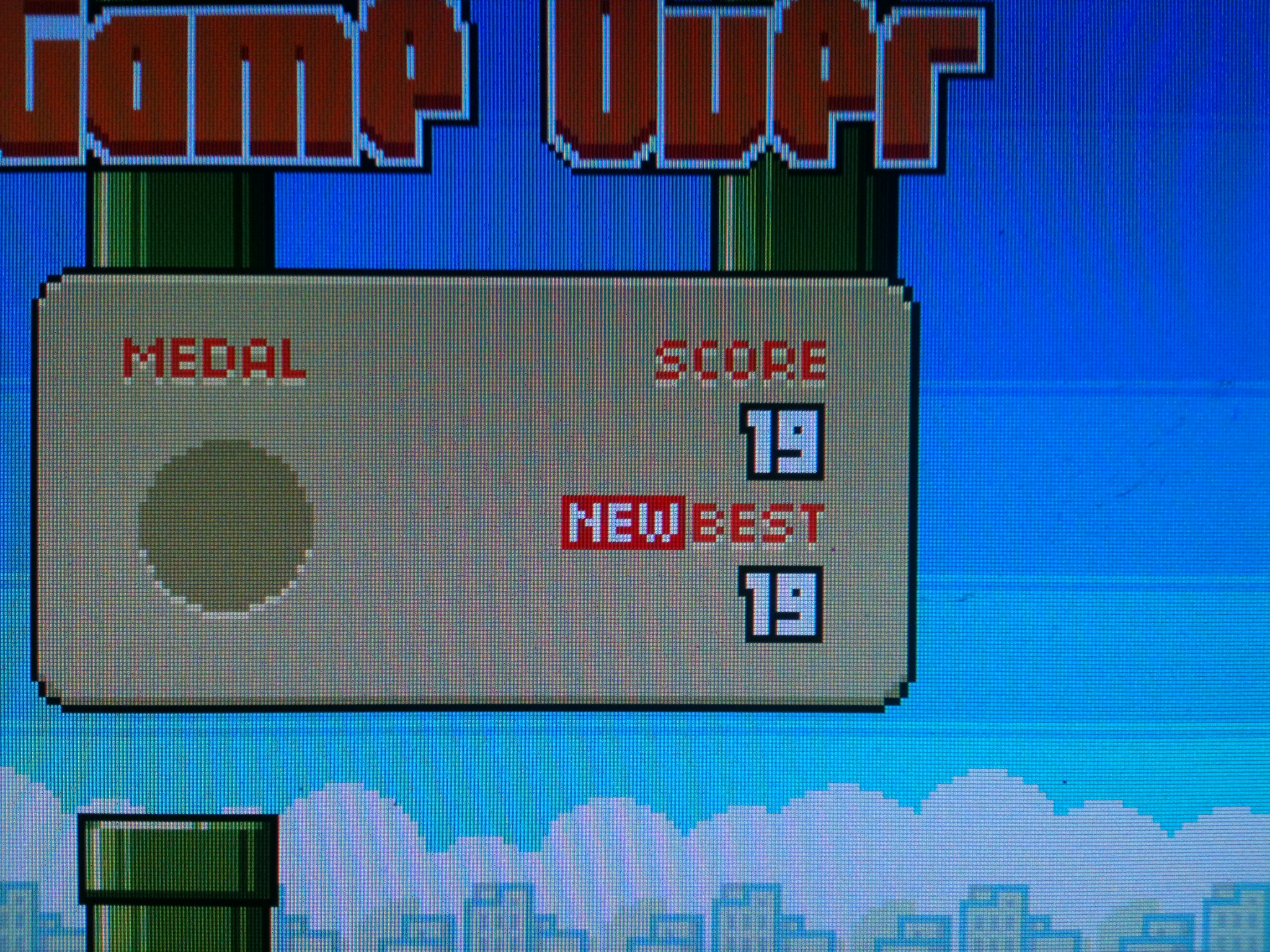 kernzy: Flappy Bird (Atari ST Emulated) 19 points on 2015-03-18 19:17:07