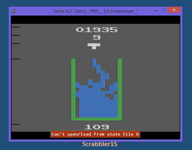 Scrabbler15: Edtris (Atari 2600 Emulated Novice/B Mode) 1,935 points on 2015-03-18 22:00:34