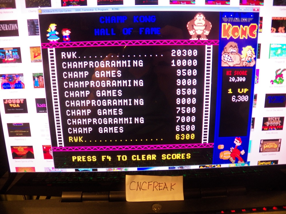 Champ Kong: Champ / Arcade 6,300 points