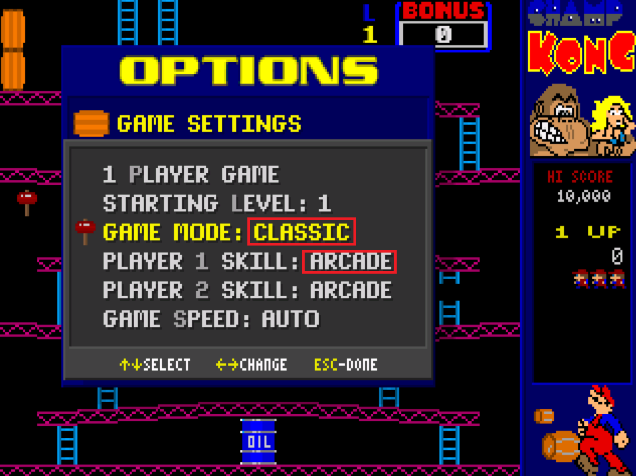 Champ Kong: Classic / Arcade 20,300 points
