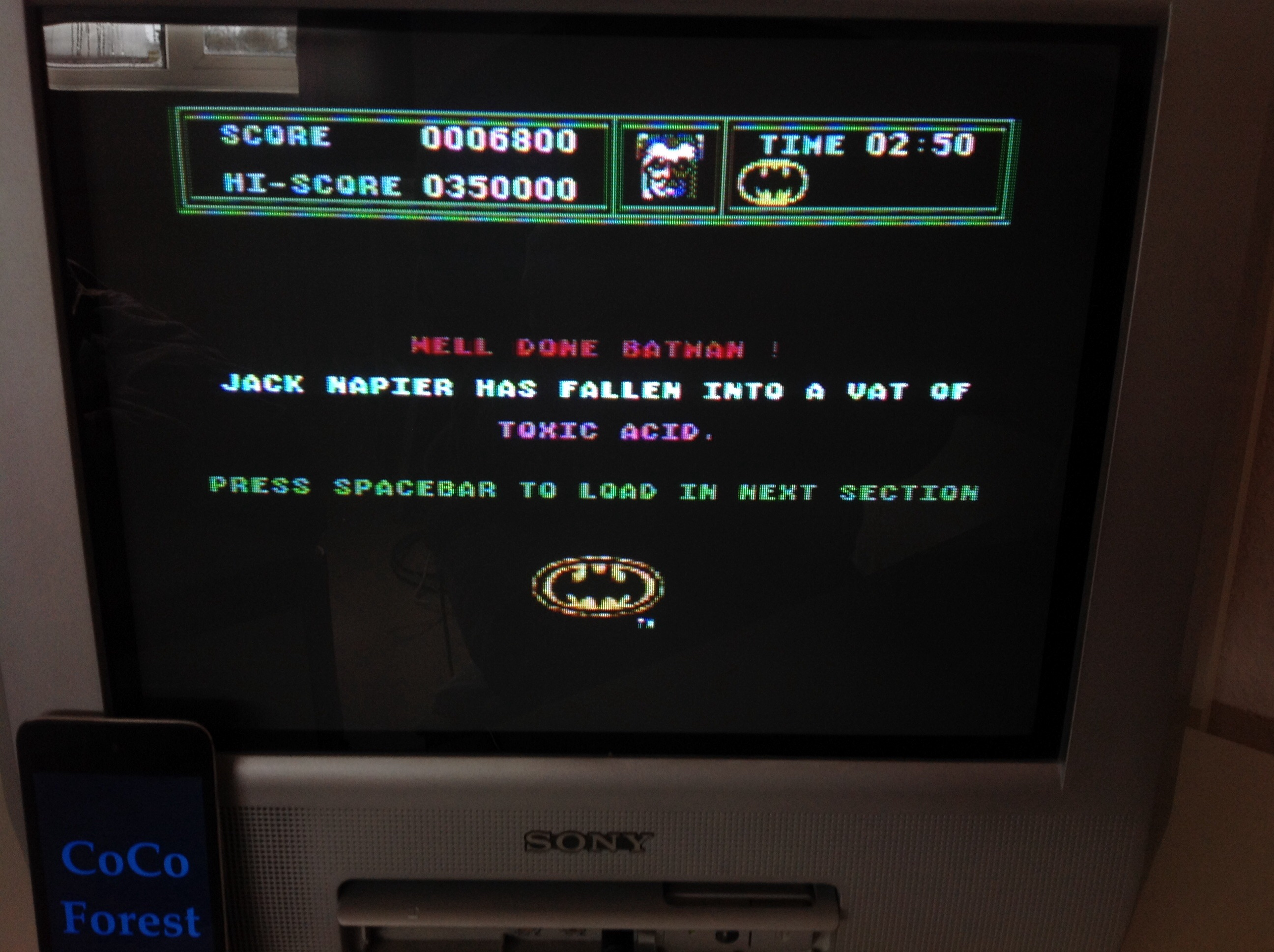 CoCoForest: Batman: The Movie (Commodore 64) 6,800 points on 2015-03-23 07:35:12