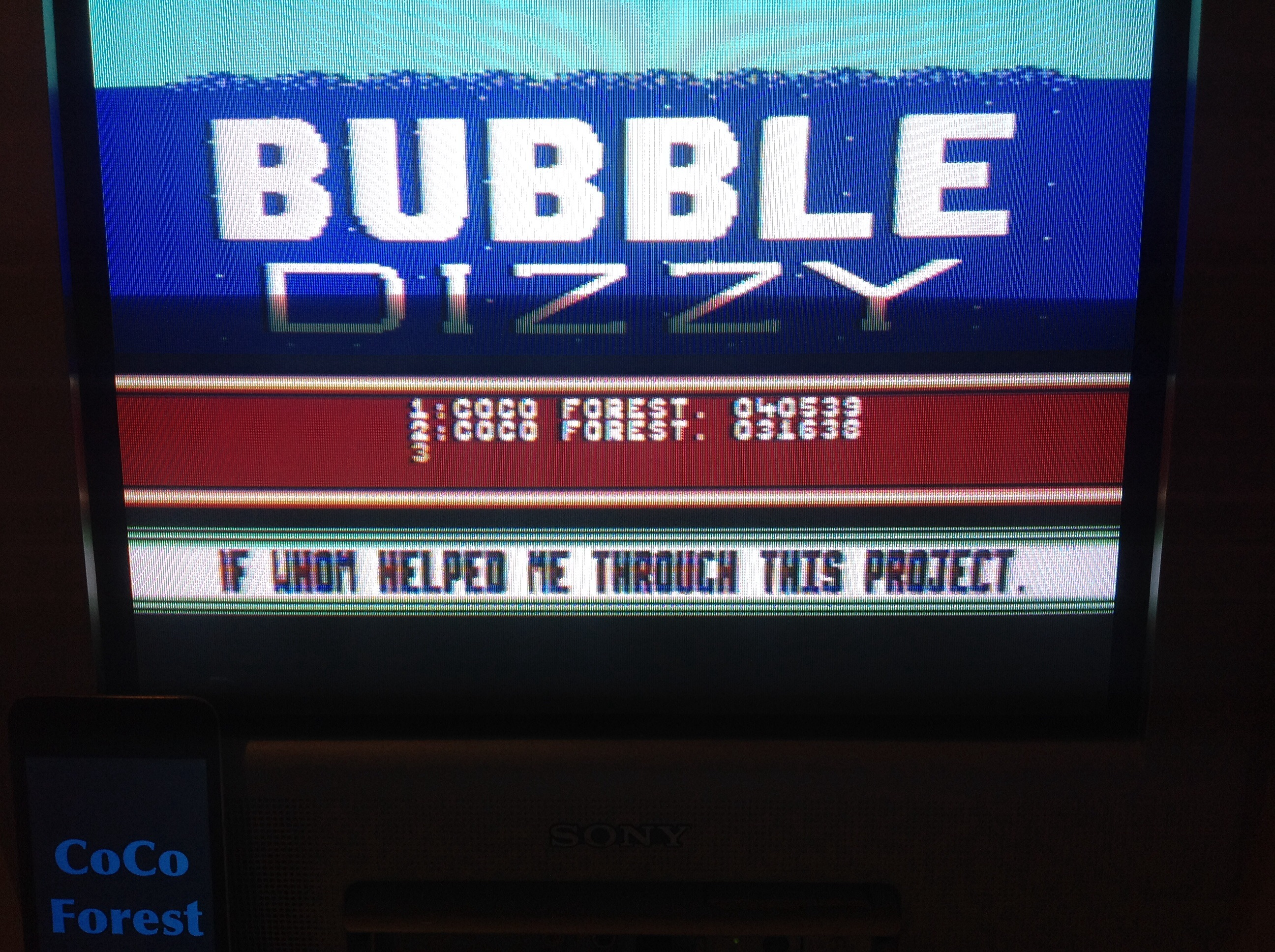 CoCoForest: Bubble Dizzy (Commodore 64) 40,539 points on 2015-03-23 15:01:02