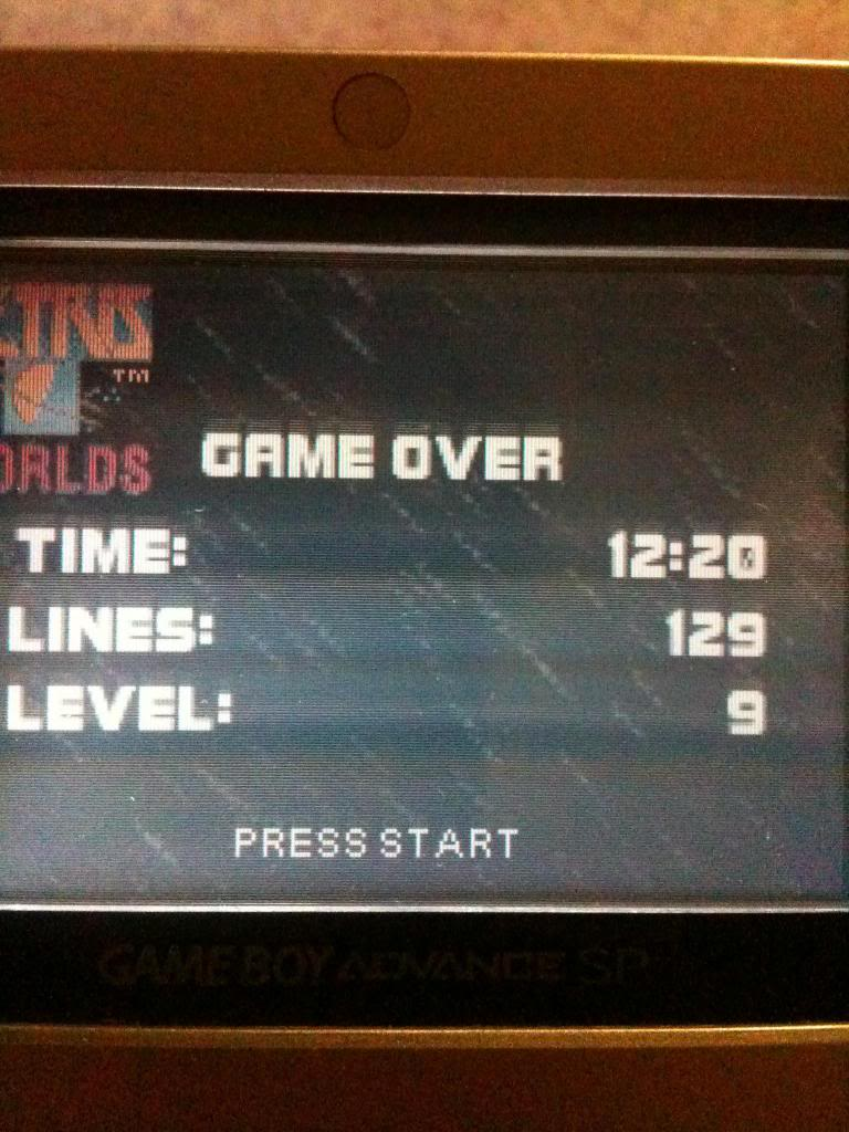 Tetris Worlds: Marathon: Lines 129 points