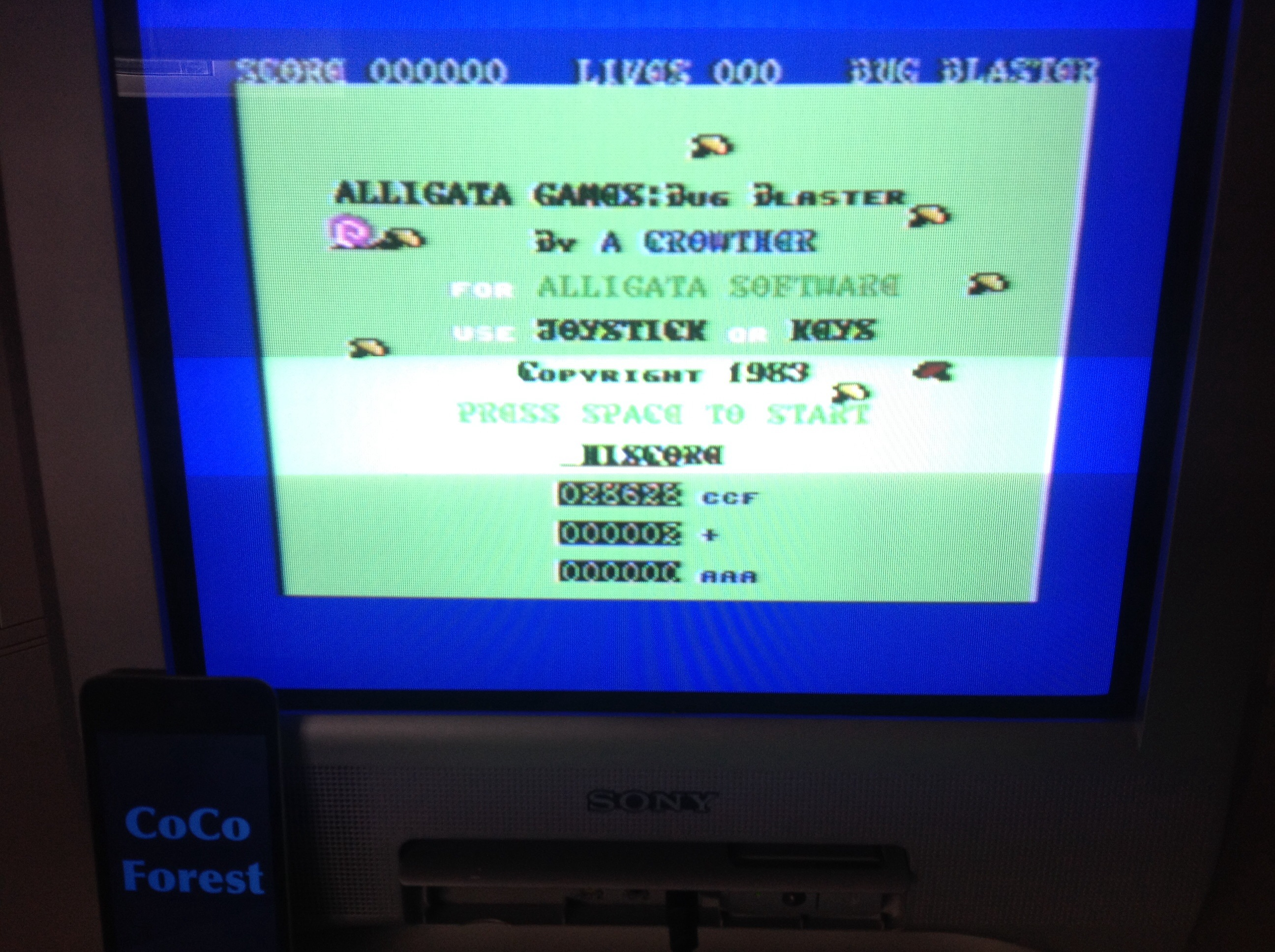 CoCoForest: Bug Blaster (Commodore 64) 28,628 points on 2015-03-24 08:15:19