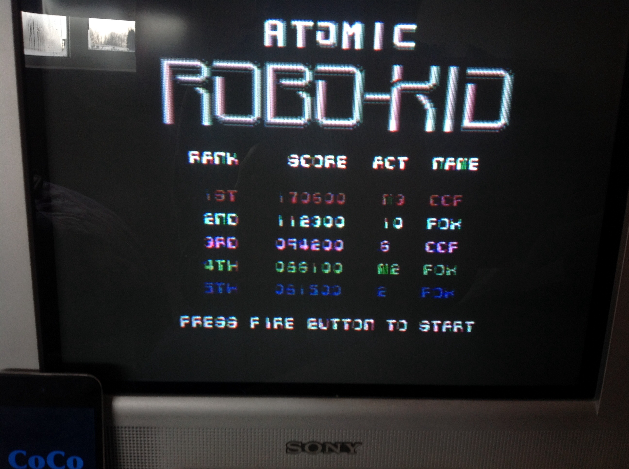 CoCoForest: Atomic Robo Kid (Commodore 64) 170,600 points on 2015-03-25 04:33:23