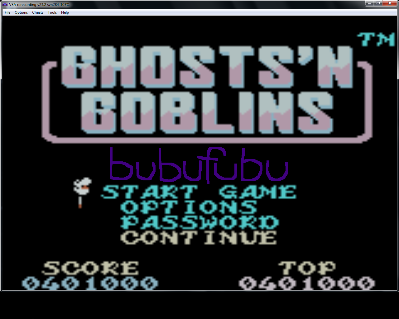 bubufubu: Ghosts N Goblins (Game Boy Color Emulated) 401,000 points on 2015-03-25 14:07:22