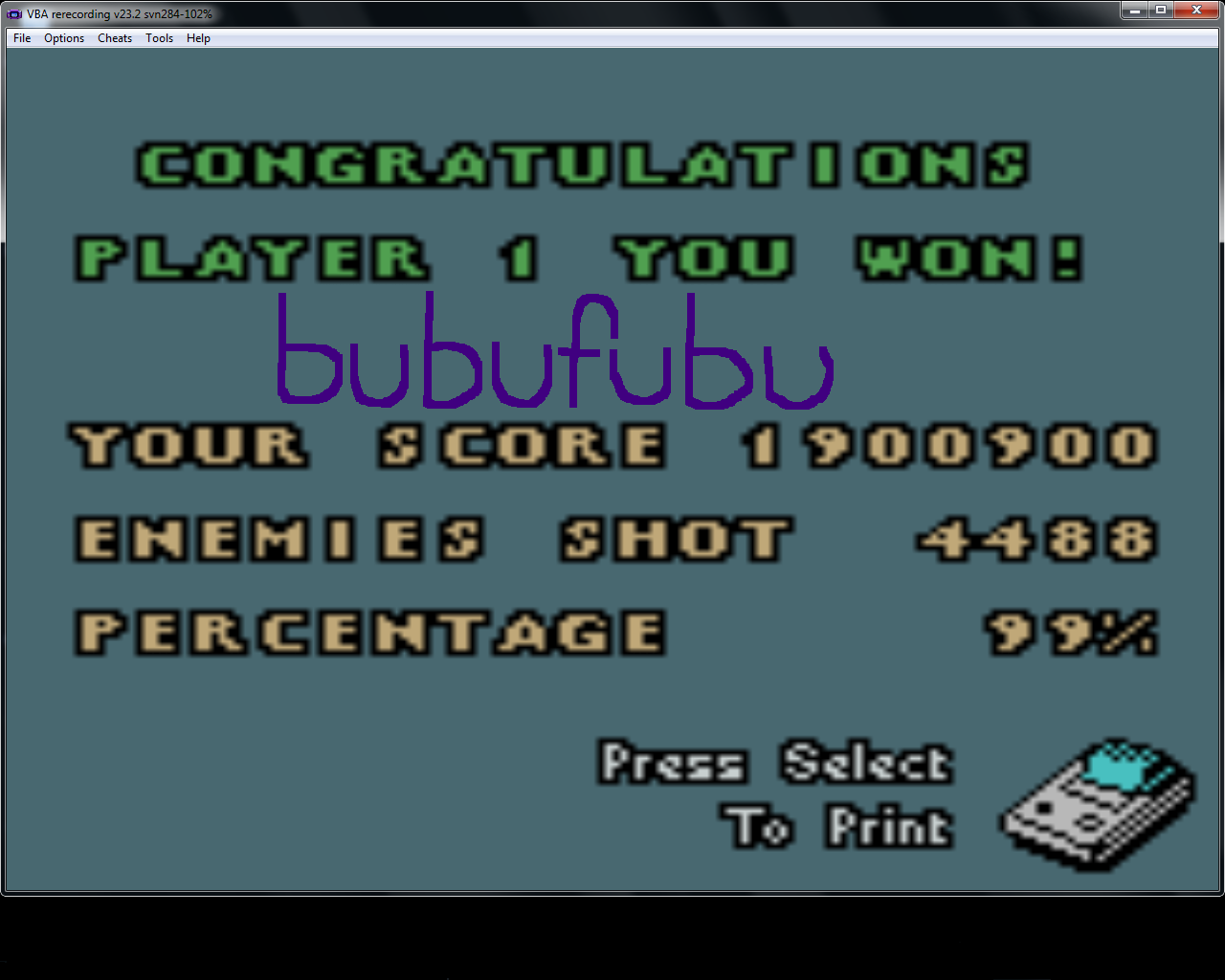 bubufubu: 1942 (Game Boy Color Emulated) 1,900,900 points on 2015-03-25 14:26:33
