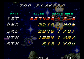 BarryBloso: Zed Blade (Neo Geo Emulated) 537,400 points on 2015-03-26 06:09:38