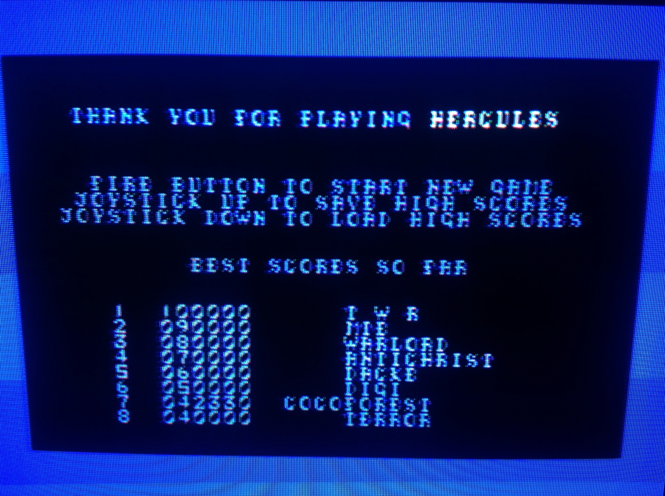 CoCoForest: Hercules [1984 Interdisc] (Commodore 64) 42,330 points on 2015-03-28 15:19:58