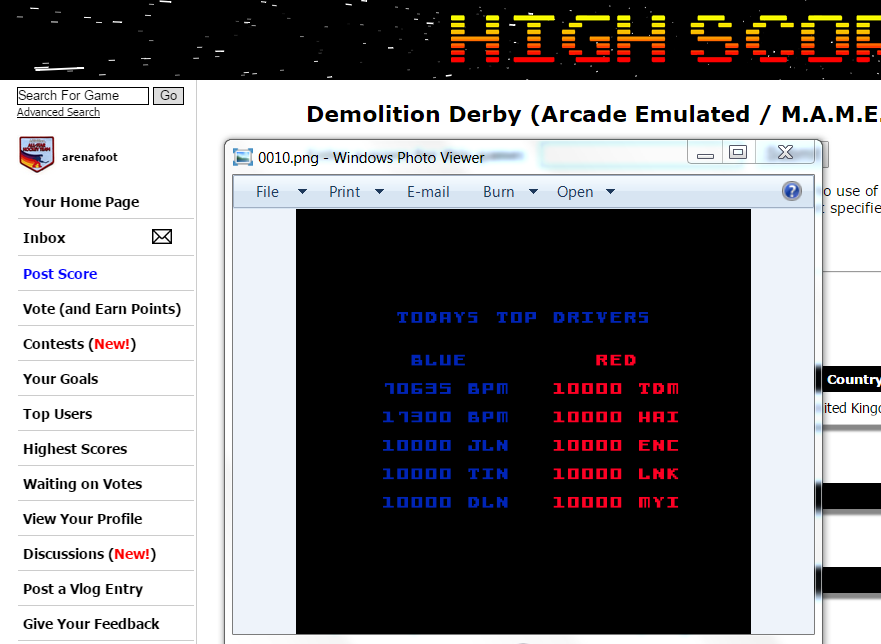 arenafoot: Demolition Derby (Arcade Emulated / M.A.M.E.) 70,635 points on 2015-03-29 01:41:43
