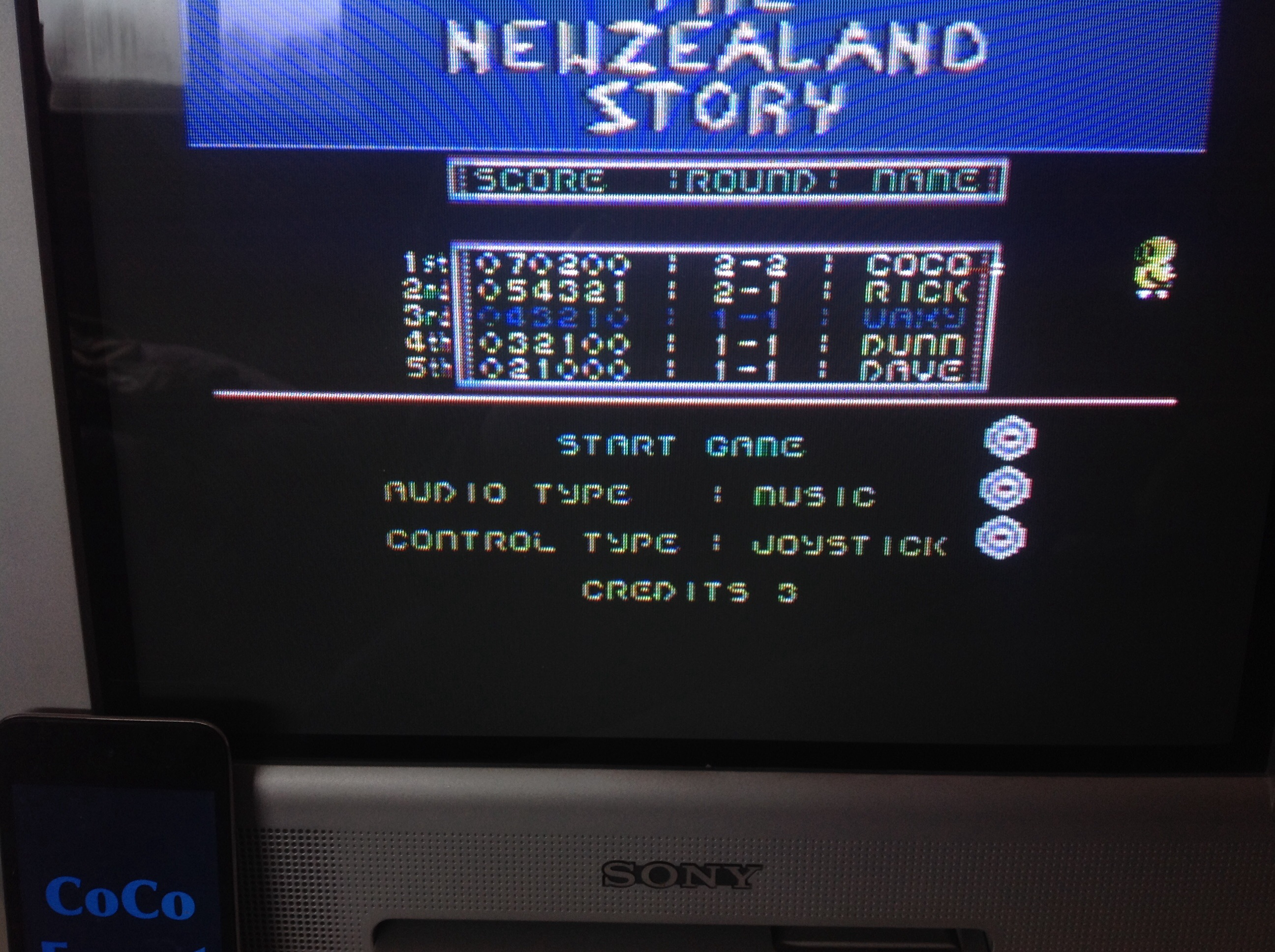 CoCoForest: New Zealand Story (Commodore 64) 70,200 points on 2015-03-29 05:44:55