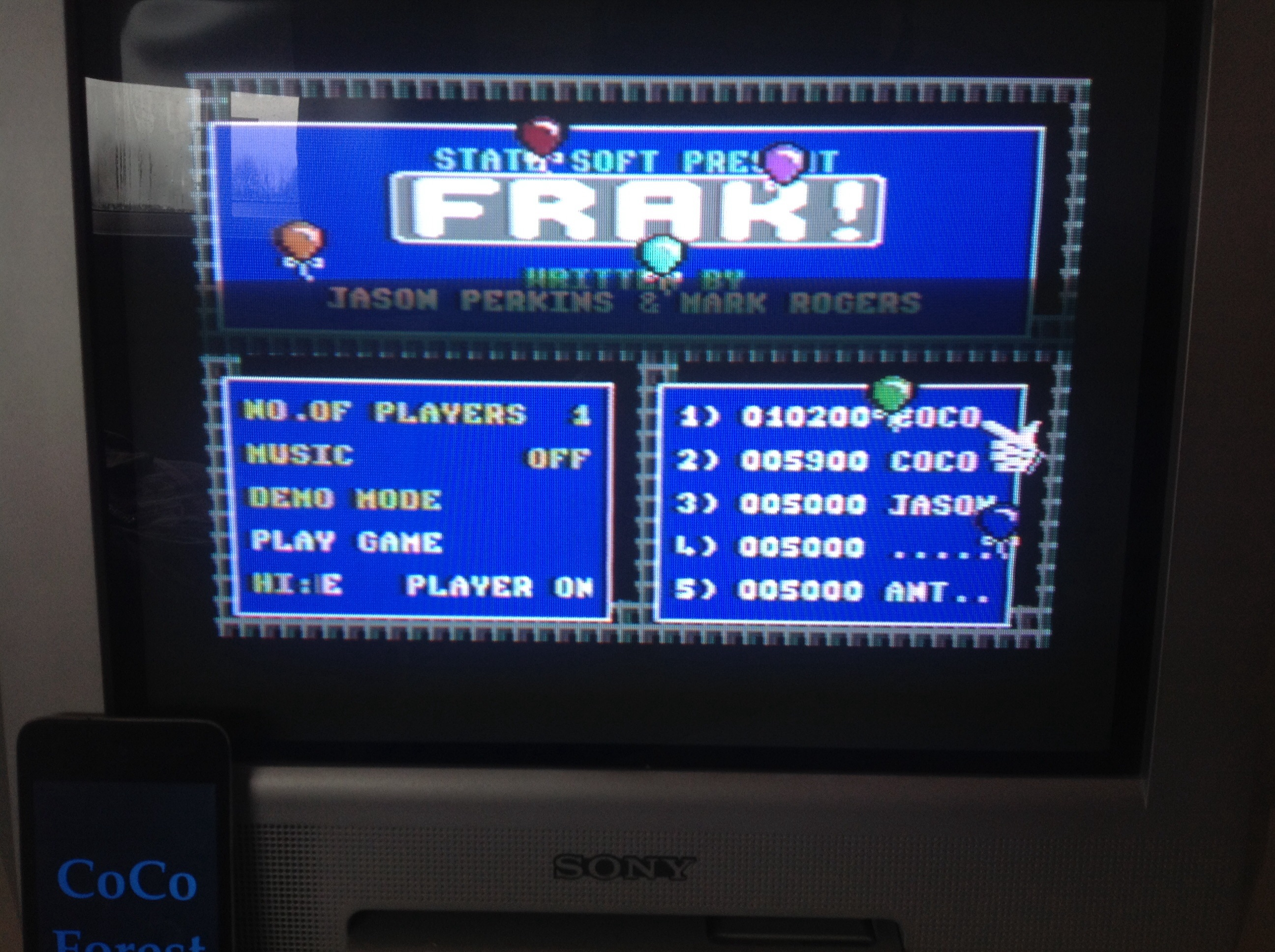 CoCoForest: FRAK! (Commodore 64) 10,200 points on 2015-03-29 06:40:59