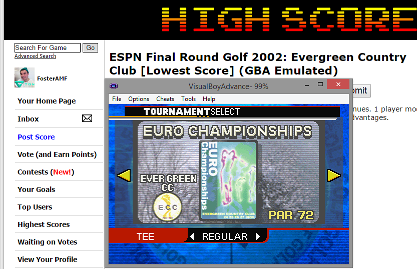 FosterAMF: ESPN Final Round Golf 2002: Evergreen Country Club [Lowest Score] (GBA Emulated) 53 points on 2015-03-29 15:09:51