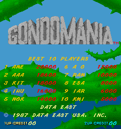 BarryBloso: Gondomania [gondo] (Arcade Emulated / M.A.M.E.) 18,600 points on 2015-03-30 04:05:12