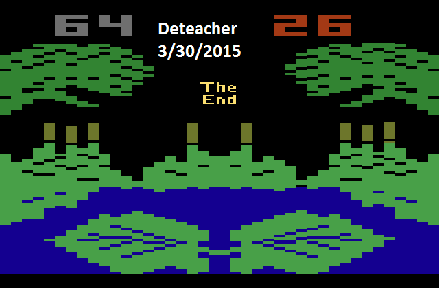Deteacher: Frogs and Flies (Atari 2600 Emulated Novice/B Mode) 64 points on 2015-03-30 21:27:55