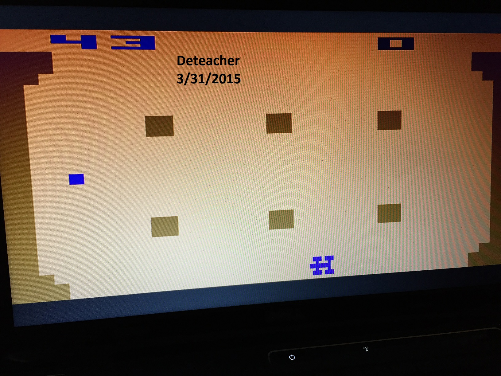 Deteacher: Indy 500: Game 8 (Atari 2600 Emulated Novice/B Mode) 43 points on 2015-03-31 21:17:47