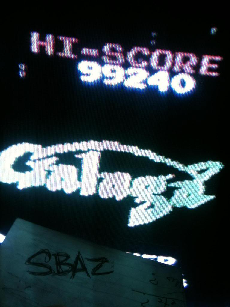 Galaga 99,240 points