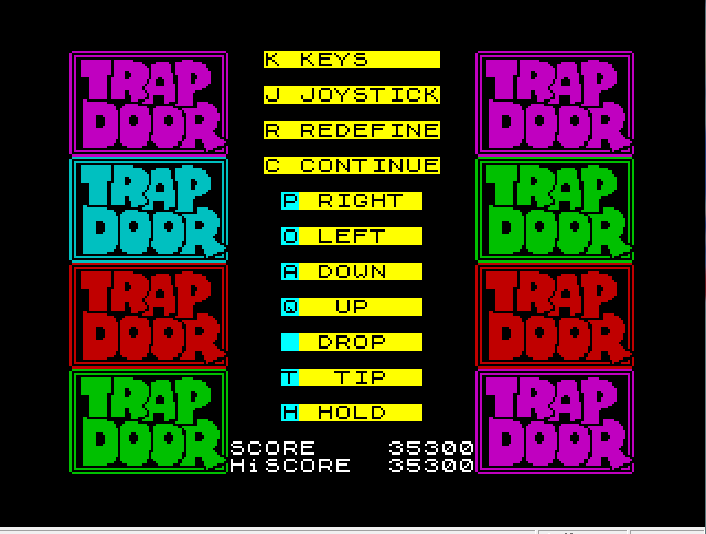 mechafatnick: The Trapdoor [Learner Berk] (ZX Spectrum Emulated) 35,300 points on 2015-04-02 01:06:40