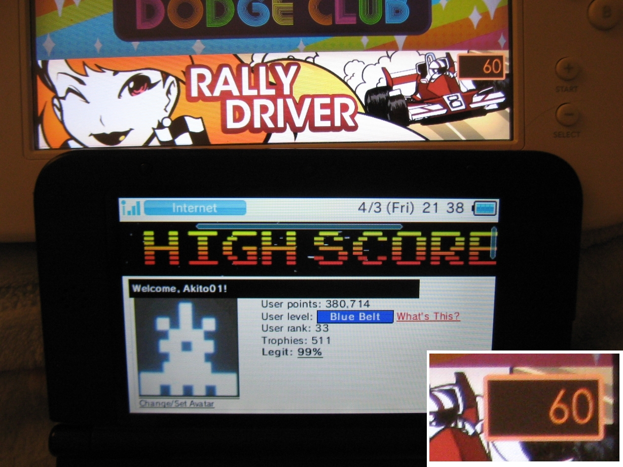 Akito01: Dot Arcade: Rally Driver (Wii U) 60 points on 2015-04-04 11:07:23
