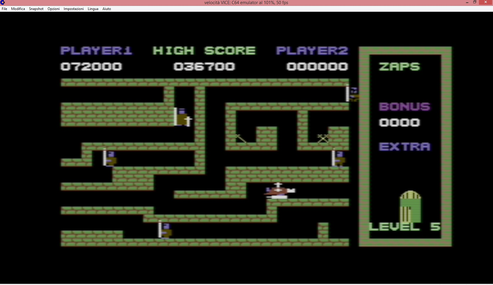 lenny2571: Cavelon (Commodore 64 Emulated) 72,000 points on 2015-04-05 02:01:04