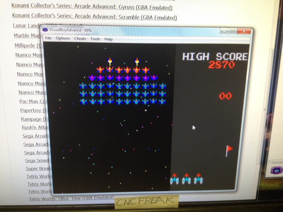 Namco Museum: Galaxian 2,870 points