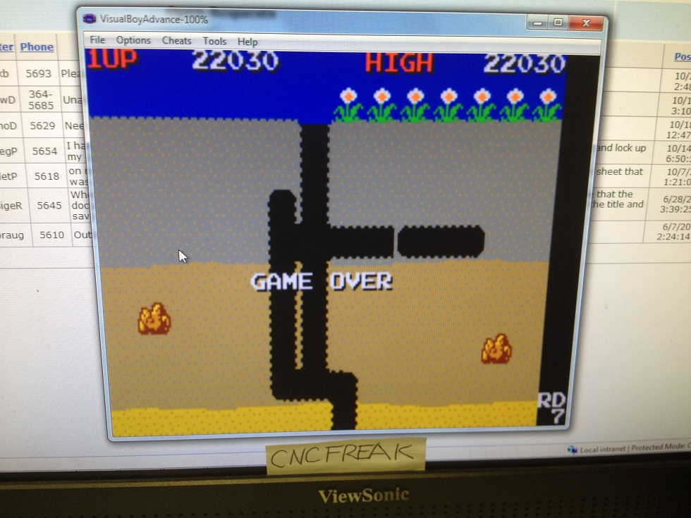Namco Museum: Dig Dug 22,030 points
