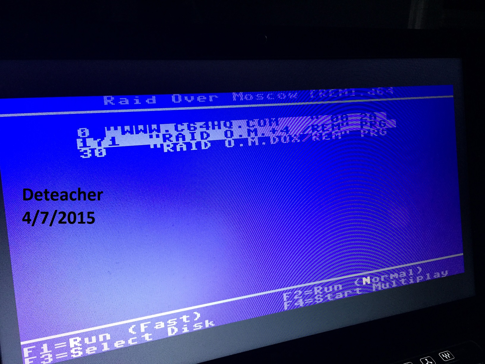 Deteacher: Raid Over Moscow: Beginner (Commodore 64 Emulated) 133,400 points on 2015-04-07 21:32:26