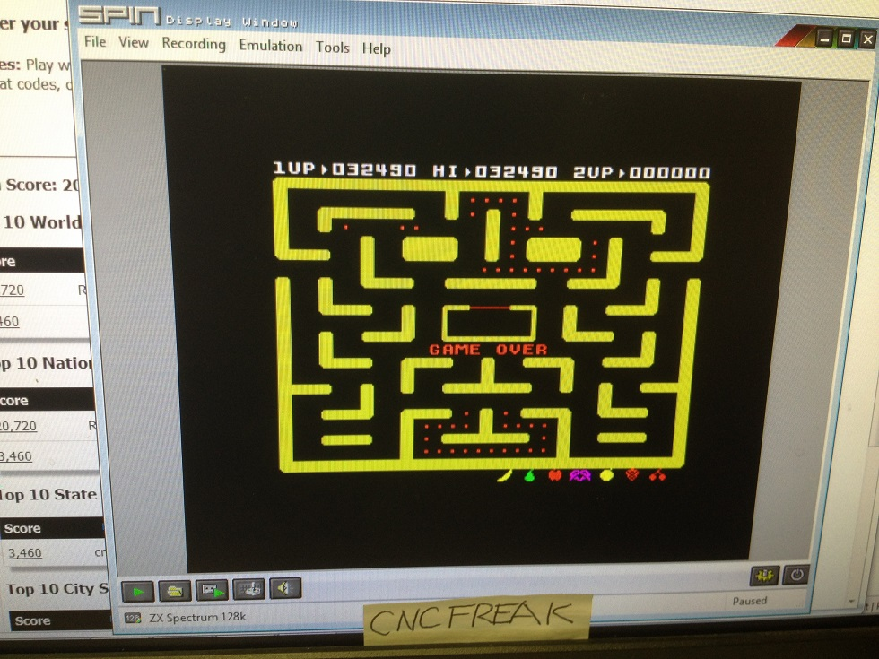 Ms. Pac-Man 32,490 points