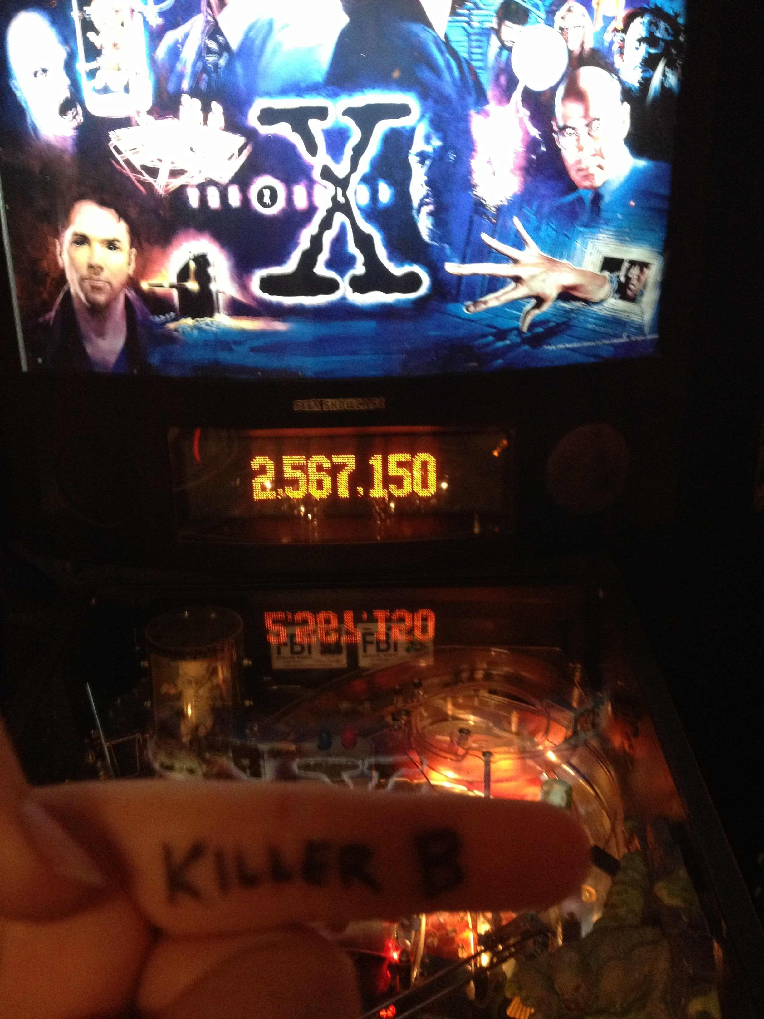 KillerB: X-Files (Pinball: 3 Balls) 2,567,150 points on 2013-10-23 14:01:22