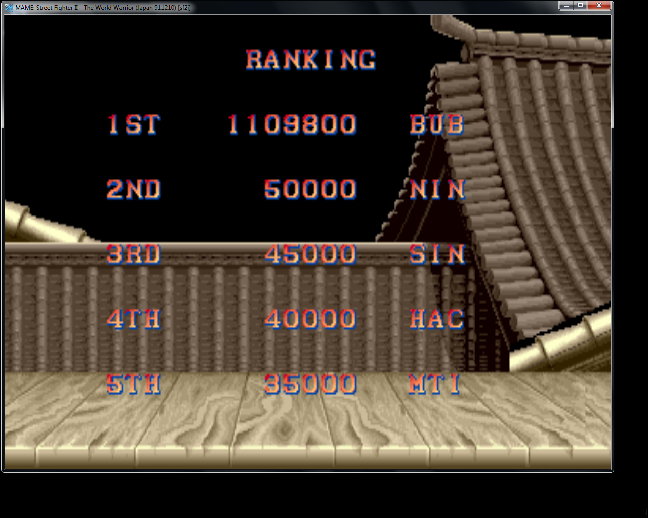 bubufubu: Street Fighter II (Arcade Emulated / M.A.M.E.) 1,109,800 points on 2015-04-08 21:53:45