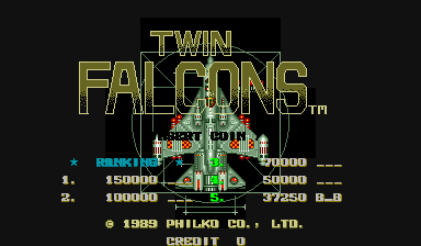 BarryBloso: Twin Falcons [twinfalc] (Arcade Emulated / M.A.M.E.) 37,250 points on 2015-04-09 05:35:56