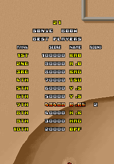 BarryBloso: Sonic Boom [sonicbom] (Arcade Emulated / M.A.M.E.) 48,400 points on 2015-04-09 05:46:44