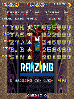BarryBloso: Sorcer Striker [sstriker] (Arcade Emulated / M.A.M.E.) 258,480 points on 2015-04-09 05:54:27