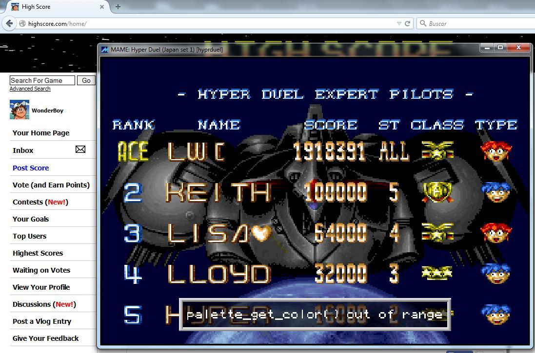 Hyper Duel [hyprduel] 1,918,391 points