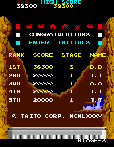 BarryBloso: Return of the Invaders [retofinv] (Arcade Emulated / M.A.M.E.) 38,300 points on 2015-04-10 19:03:33
