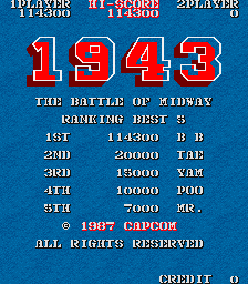 BarryBloso: 1943: The Batttle Of Midway [1943b] (Arcade Emulated / M.A.M.E.) 114,300 points on 2015-04-10 19:18:32