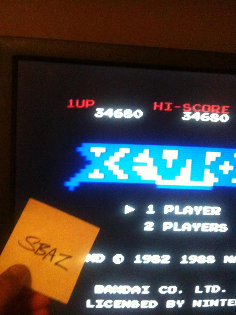 Xevious 34,680 points