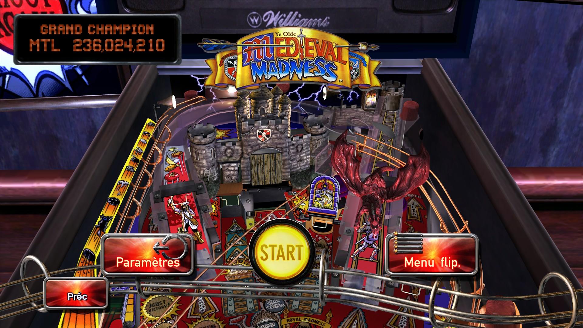 Mantalow: Pinball Arcade: Medieval Madness (PC) 236,024,210 points on 2015-04-11 11:21:44