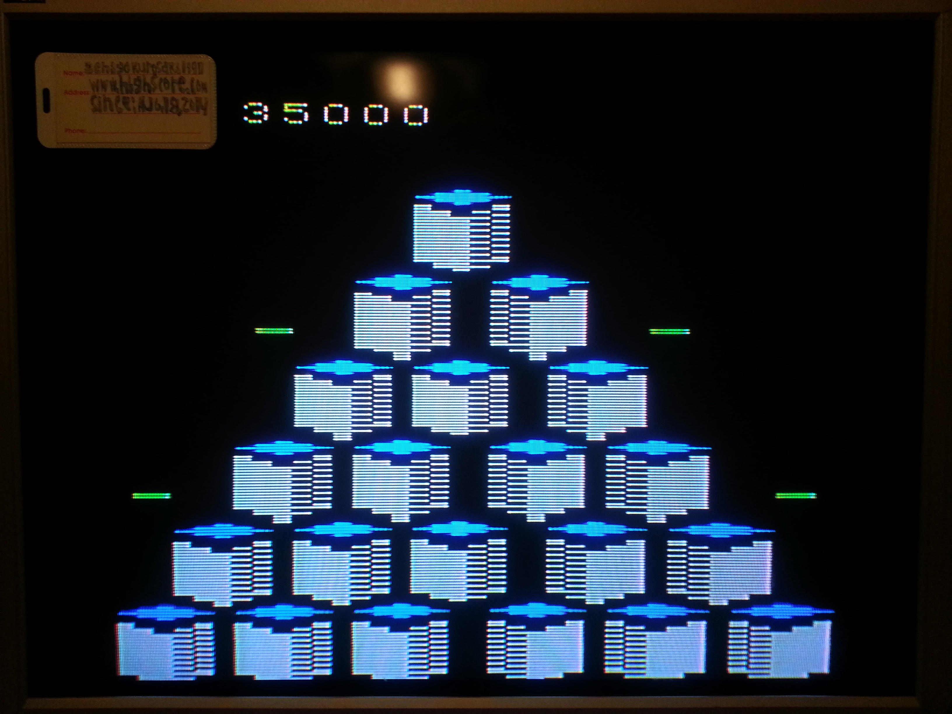 Q*bert 35,000 points