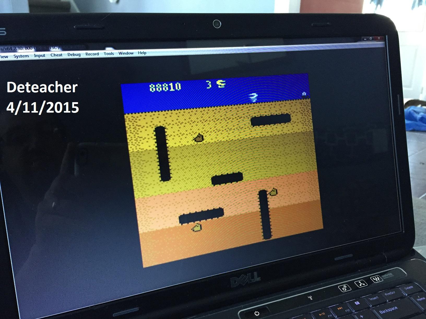 Deteacher: Dig Dug (Atari 400/800/XL/XE Emulated) 88,810 points on 2015-04-11 14:07:54