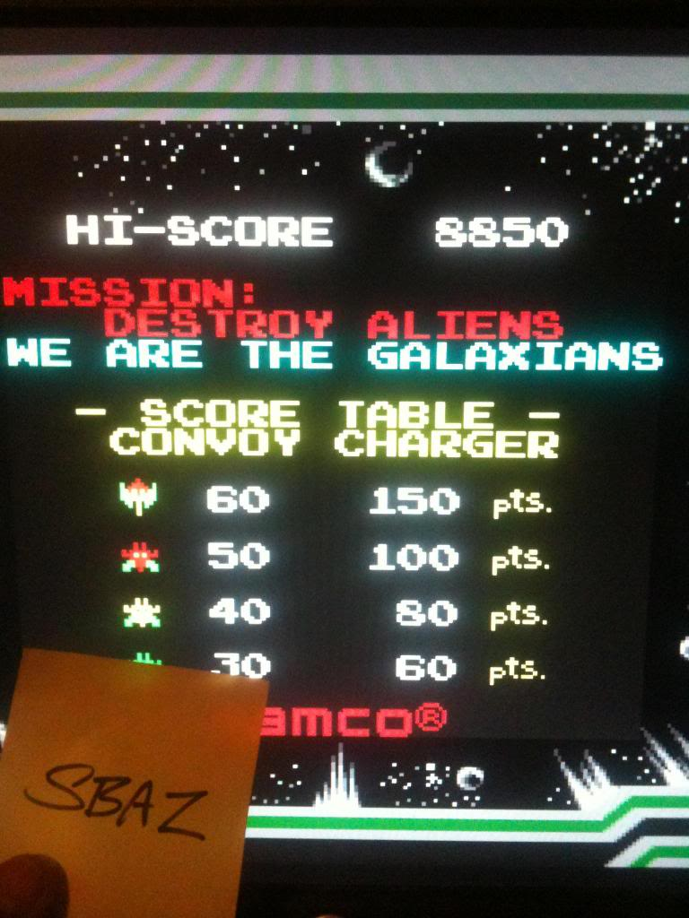 Galaxian 8,850 points